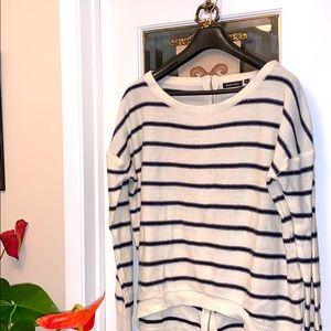ASOS Brave Soul zip back striped sweater